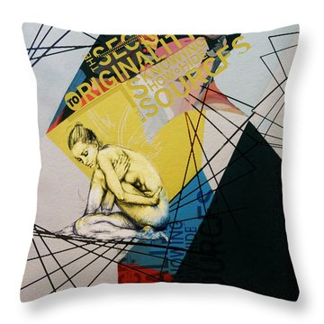 Abstract Women 021 Throw Pillow by Corporate Art Task Force