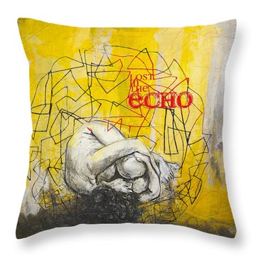 Abstract Women 022 Throw Pillow by Corporate Art Task Force