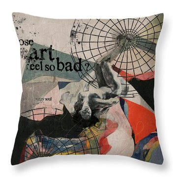 Abstract Women 024 Throw Pillow by Corporate Art Task Force