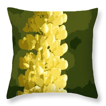 Throw Pillow featuring the photograph Abstract Yellow Lupine by Kenny Glotfelty