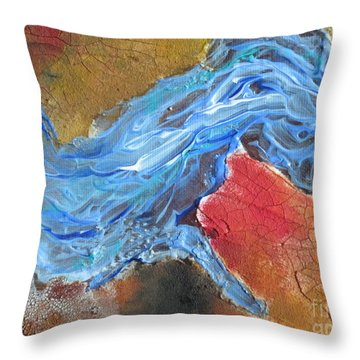 Abstract1 Throw Pillow by Laurianna Taylor