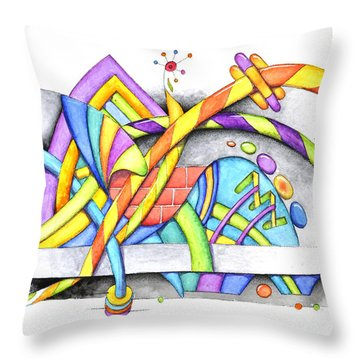 Abstracted Throw Pillow