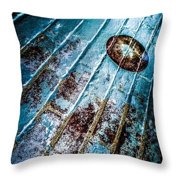 Abstracted Wall Throw Pillow by Michael Arend