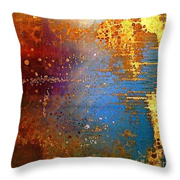 Throw Pillow featuring the digital art Abstracting Thoughts  by Delona Seserman