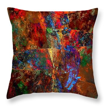 Abstraction 0393 Marucii Throw Pillow