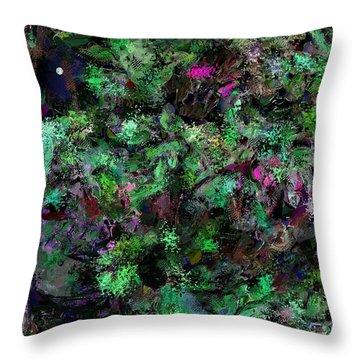 Throw Pillow featuring the digital art Abstraction 121514 by David Lane