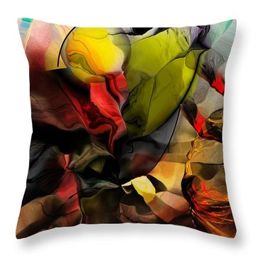 Abstraction 122614 Throw Pillow by David Lane