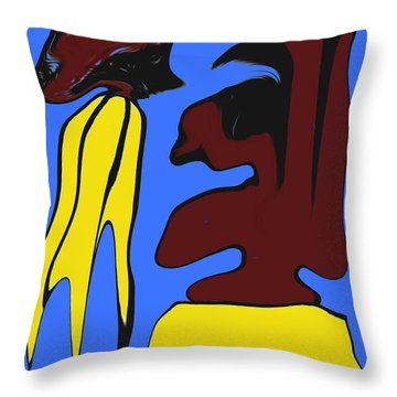 Abstraction 229 Throw Pillow by Patrick J Murphy