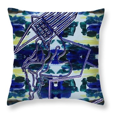 Abstraction 231 Throw Pillow by Patrick J Murphy