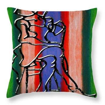 Abstraction 232 Throw Pillow by Patrick J Murphy