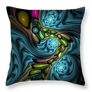 Abstraction 254-06-13 Marucii Throw Pillow