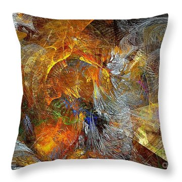 Abstraction 435-08-13  Marucii Throw Pillow