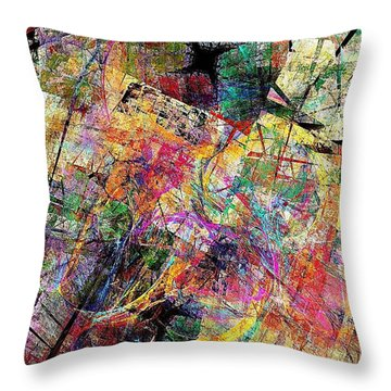 Abstraction 442-09-13 Marucii Throw Pillow