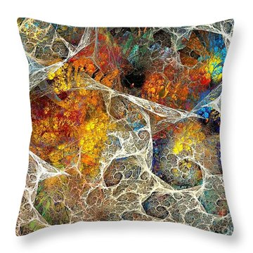 Abstraction 462-09-13 Marucii Throw Pillow
