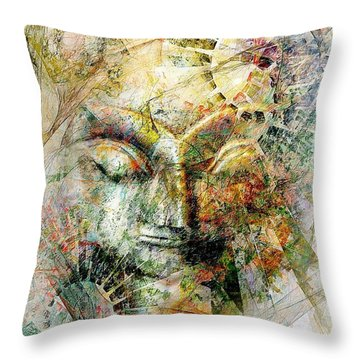Abstraction 482-10-13 Marucii Throw Pillow
