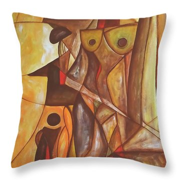 Abstraction 486-10-13 Marucii Throw Pillow by Marek Lutek