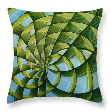 Abstraction A La M. C. Escher Throw Pillow by Gary Holmes