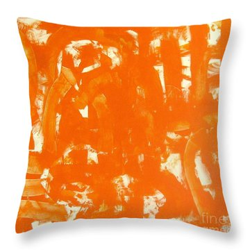 Abstraction In Orange Throw Pillow by Venus