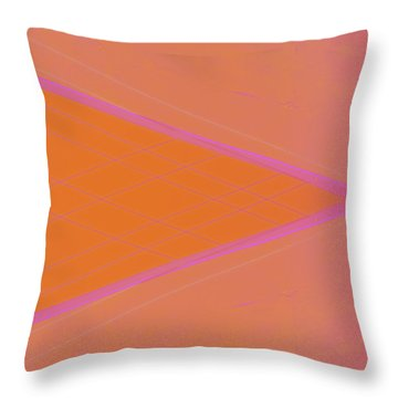 Abstraction In Pink Number 3 Throw Pillow