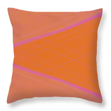 Abstraction In Pink Number 4 Throw Pillow