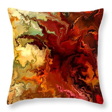 Abstraction Surrealist By Rafi Talby Throw Pillow by Rafi Talby