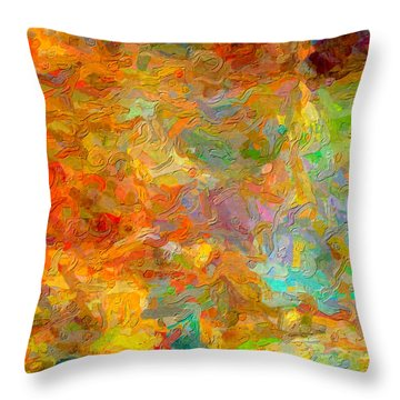 Abstracto Impasto Throw Pillow