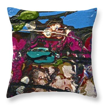 Abstracts 14 - Seascapes Throw Pillow by Mario Perron