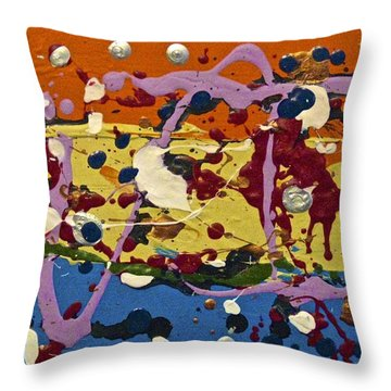 Abstracts 14 - The Circus Throw Pillow