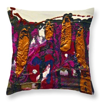 Abstracts 14 - The Deep Dark Woods Throw Pillow by Mario Perron