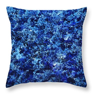 Abstrct Pannel Blue  Throw Pillow by P Dwain Morris
