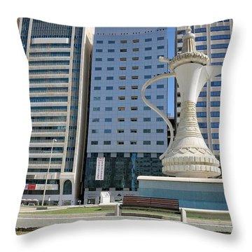 Throw Pillow featuring the photograph Abu Dhabi Al Ittihad Square by Steven Richman