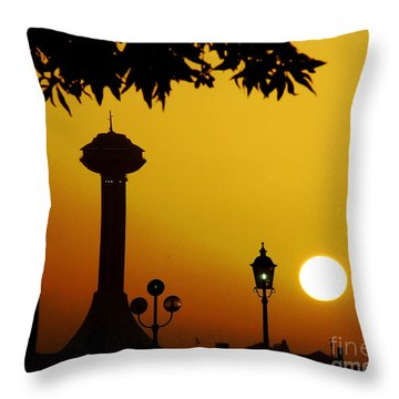 Throw Pillow featuring the photograph Abu Dhabi by Andrea Anderegg