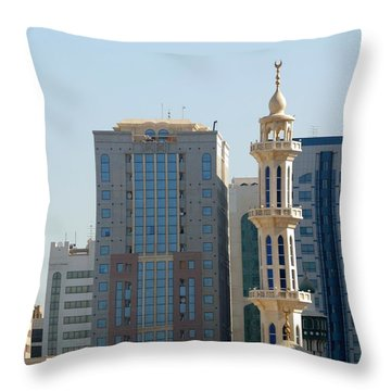 Throw Pillow featuring the photograph Abu Dhabi City Center by Steven Richman