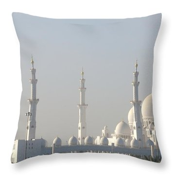 Throw Pillow featuring the photograph Abu Dhabi Sheikh Zayed Grand Mosque by Steven Richman