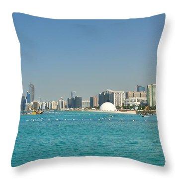 Throw Pillow featuring the photograph Abu Dhabi Skyline by Steven Richman