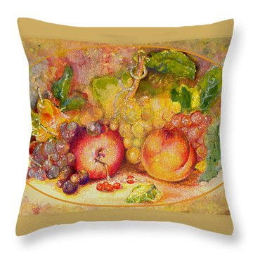 Throw Pillow featuring the painting Abundance 1 by Brooks Garten Hauschild