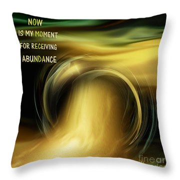 Abundance - Inspirational Art By Giada Rossi Throw Pillow