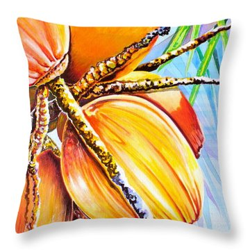 Abundance Throw Pillow by Julie  Hoyle