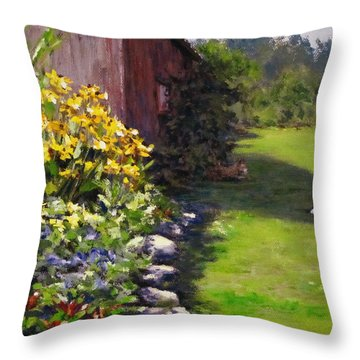 Abundance Throw Pillow by Karen Ilari