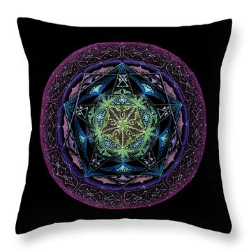 Abundance Throw Pillow by Keiko Katsuta