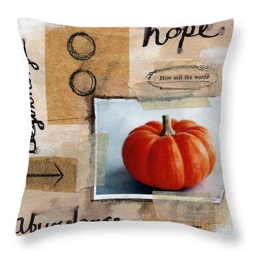 Abundance Throw Pillow by Linda Woods