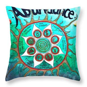 Abundance Money Magnet - Healing Art Throw Pillow