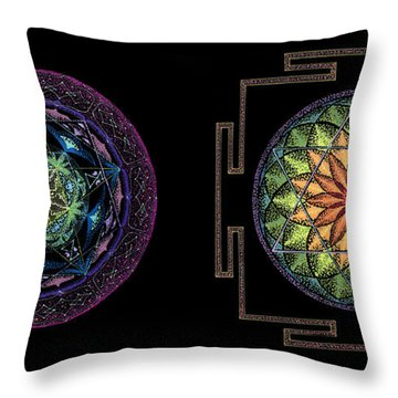 Abundance  Prosperity Throw Pillow by Keiko Katsuta