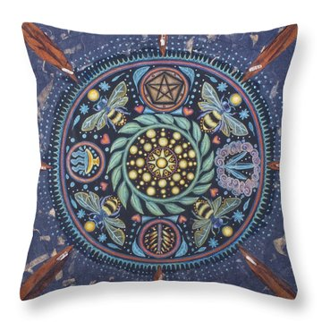 Abundance With Color Throw Pillow