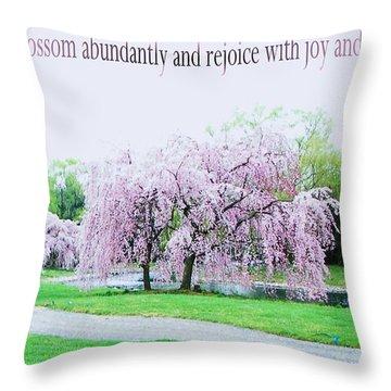 Throw Pillow featuring the photograph Abundant Blossom by Pamela Hyde Wilson