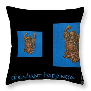 Abundant Happiness Throw Pillow