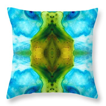 Abundant Life - Pattern Art By Sharon Cummings Throw Pillow by Sharon Cummings