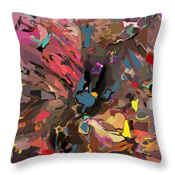 Throw Pillow featuring the digital art Abyss 2 by David Lane