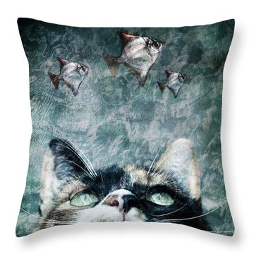 Abyss Cat Nr 2 Throw Pillow