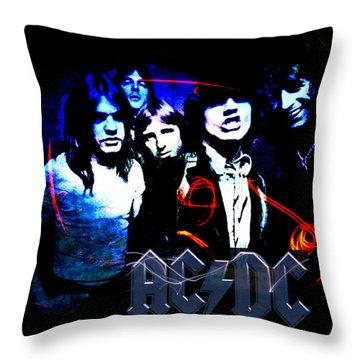 Ac/dc - Rock Throw Pillow